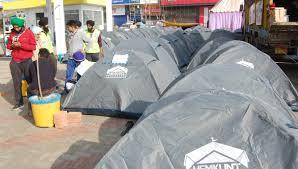 farmers-protest-cold-season-waterproof-tent-sonipat-news